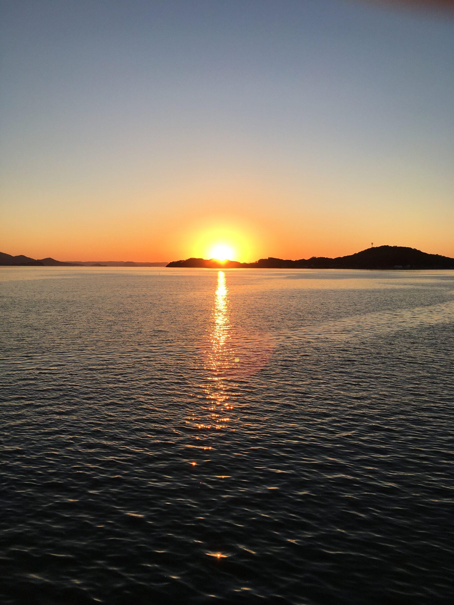 サンセットロードの夕日